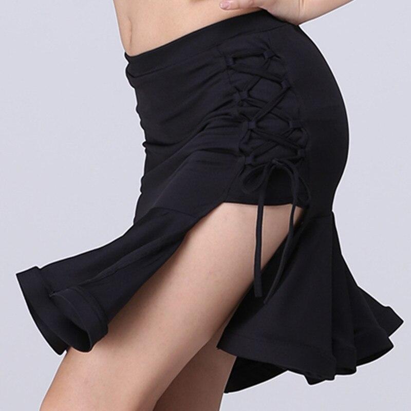 New Latin Skirt For Women Sexy Drawstring Design Dance Costumes Performance Latin Skirts Female Dance Dress Practice Skirts XXL