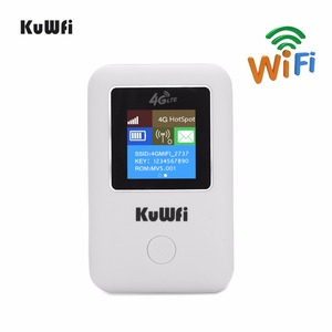 Image 2 - KuWFi מיני 4G LTE WIFI נתב סמארטפון נייד 3G/4G Wifi נתב מודם רכב Wi fi נתב עם כרטיס ה sim חריץ