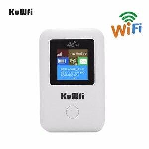 Image 2 - KuWFi Mini 4G LTE Router WIFI Sbloccato Portatile 3G/4G Wifi Modem Router Auto Wi Fi Router con Slot Per Sim Card