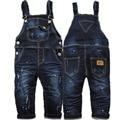 3975 немного потерять ребенка Комбинезоны детские мальчиков джинсы Комбинезоны дети мальчик nav синий apring осень детская мода новый