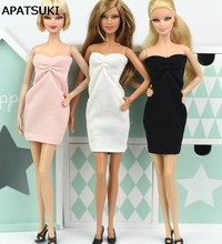 15ababa779 1 6 atractivo del hombro de una pieza vestido para Barbie doll Vestidos de noche  vestido para Barbie princesa bjd muñeca Accesor.