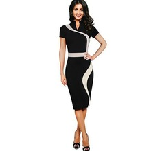 Vintage Stand Collar Short sleeve Bodycon Dress Ukraine plus Size Women Clothing Womens Sexy Dresses Party Night Club Dress
