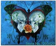 3D DIY Diamond Painting Cross Stitch Needlework 5D Full Diamond Embroidery Butterfly skull Pattern Mosaic Home Decor