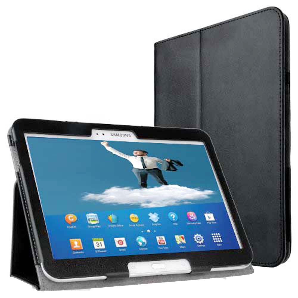 P5200 P5210 Leather book Folio Slim Cover Case for Samsung Galaxy Tab 3 10.1 Book Stand Cover case with magnetic closure