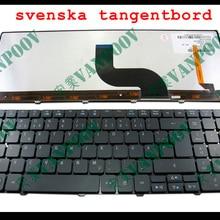Тетрадь Клавиатура для ноутбука acer Aspire 5810 5810 т 5410 5536 5536G 5738 5740 8935 8940 с подсветкой черный шведский SD Версии