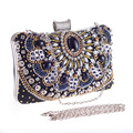 Woman Evening bag Women Diamond Day Clutches female Crystal Beading Day Clutch Wallet Wedding Purse Party Banquet Bag LI-1103