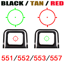 Тактический 552/551/553/557/558 коллиматорный голографический прицел Red Dot оптические красный и зеленый свет с 20 мм железнодорожных крепления красный/черный/Tan