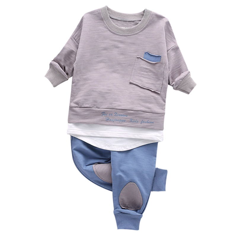 Autumn Baby Clothing 2017 Boys Fashion Long Sleeve Sport Suit Girls Clothing Set Children Tracksuit Costume For Kids