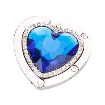 Bolso plegable de Metal portátil con forma de corazón, gancho para bolso, ganchos para monedero, gancho para bolso, soporte para bolso, bolsa de concha, gancho para mesa plegable