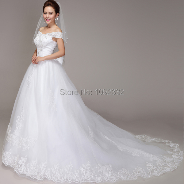 4c43dc5f5c780 s 2016 new plus size women Spring Princess ball Bridal gown lace v-neck  wedding dress Korean version tailing