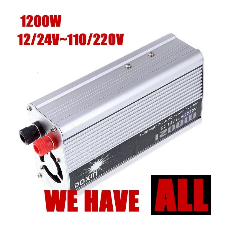 Преобразователь DC 12 24 В к AC 110 220 В 1200 Вт USB Автомобильное зарядное устройство Мощность преобразователь автомобилей трансформатор