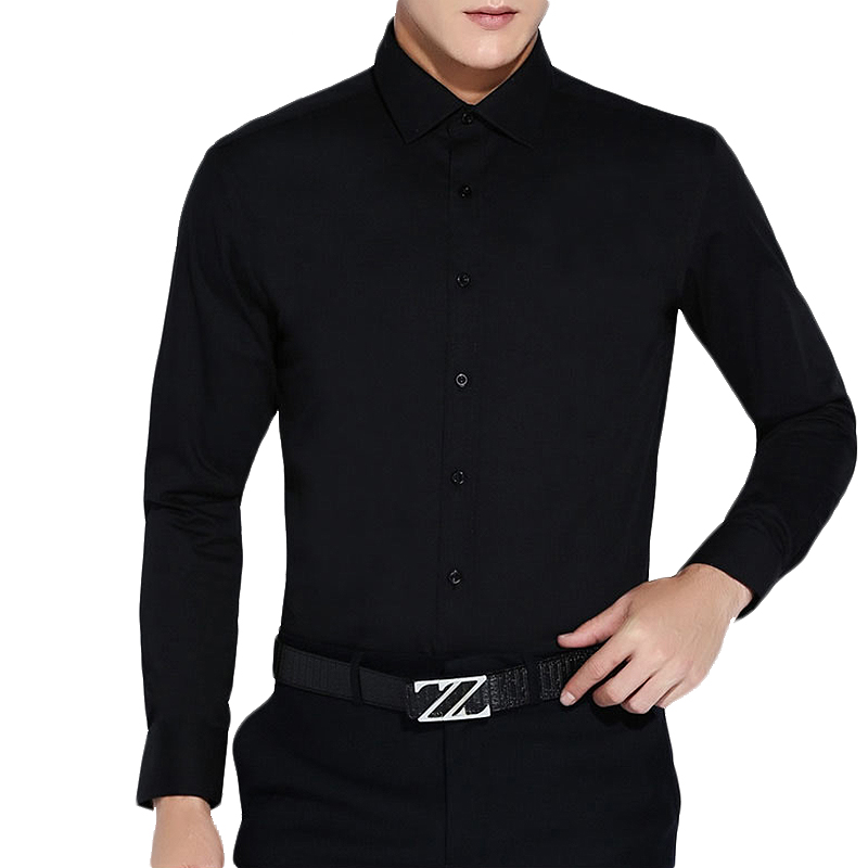 Compare Prices on Mens Black Dress Shirts- Online Shopping/Buy Low ...
