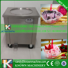 By DHL free ship fried ice cream roll pan machine single pan fried ice cream machine by DHL