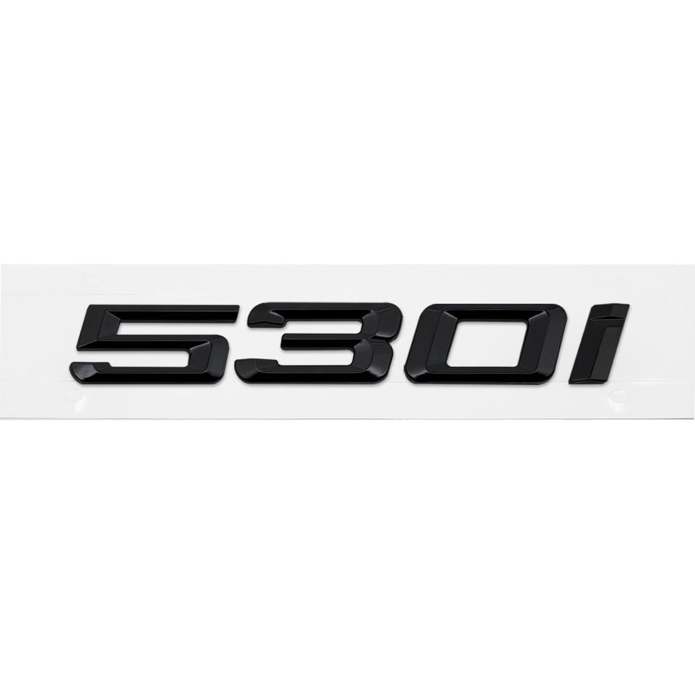 G38 Models E61 F07 Silver Chrome 520d Lettering Back Boot Lid Trunk Badge Emblem for 5 Series E93 F10 F11 G30 F18 G31 E60