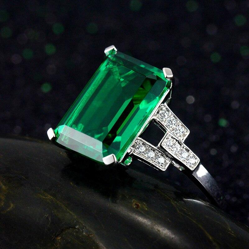 Colorway 3 вида цветов драгоценных камней 925 Серебряное кольцо изумруд кольца для женщин 2018 новый год подарки ...