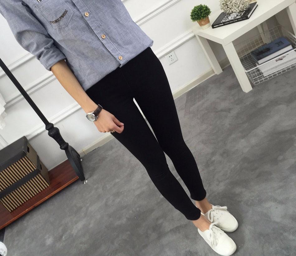 BIVIGAOS Basic Skinny Womens Jeans Ankle Pencil Pants Slim Elastic Denim Pants Jean Leggings Female Cotton Jeggings Jeans Women 15