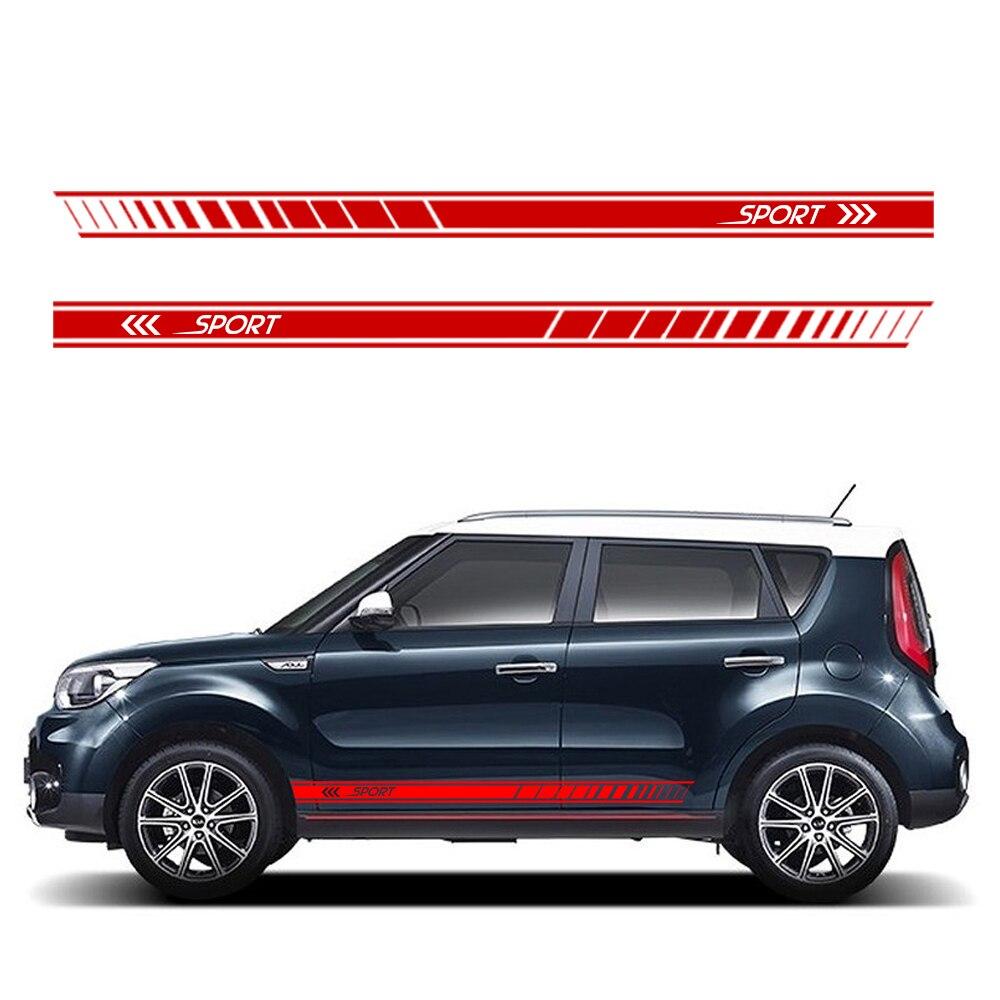 Graphic Vinyl Waist Line Sticker Stripe Decal For Toyota Highlander Pair//2 PCS