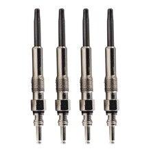 beler New Silver 4pcs Diesel Glowplugs Dual Coil Glow Plugs 1.9 TDI for VW Golf Jetta Beetle 1997-1999 2000 2001 2002 2003 2004