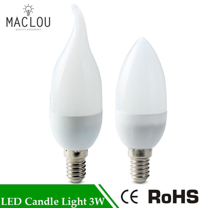 Energiek Led E14 Lampadina Della Candela Del 3 W 220 V Led Lamp Spot Smd3528 Ha Condotto La Lampada Della Luce Interna Decorazione