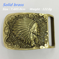 Retail New Style High Quality Solid Brass Indian Belt Buckle For Men S Fit 4cm Wide