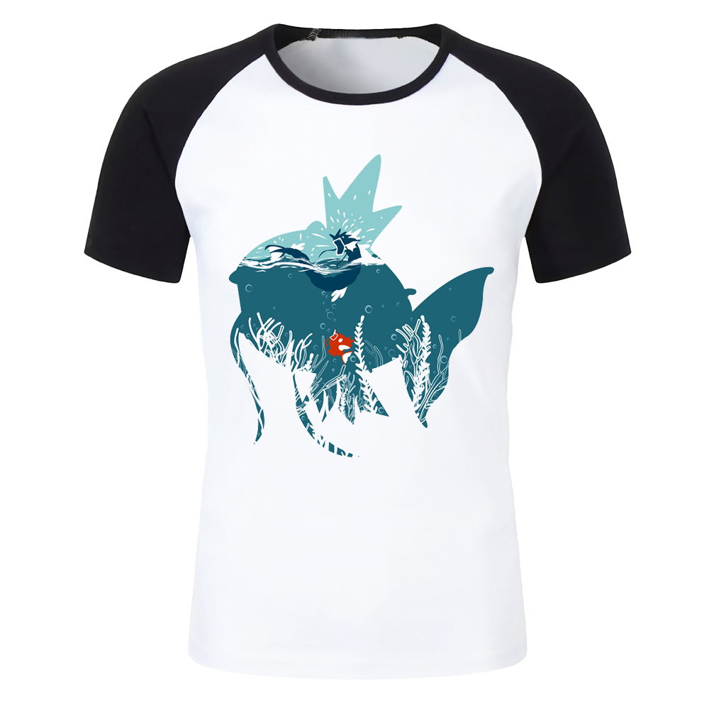 7e33f3a87 Men's T Shirt Magikarp and Gyarados Pokemon Dream Your Dream Awesome Artsy  Printed Baseball Tee