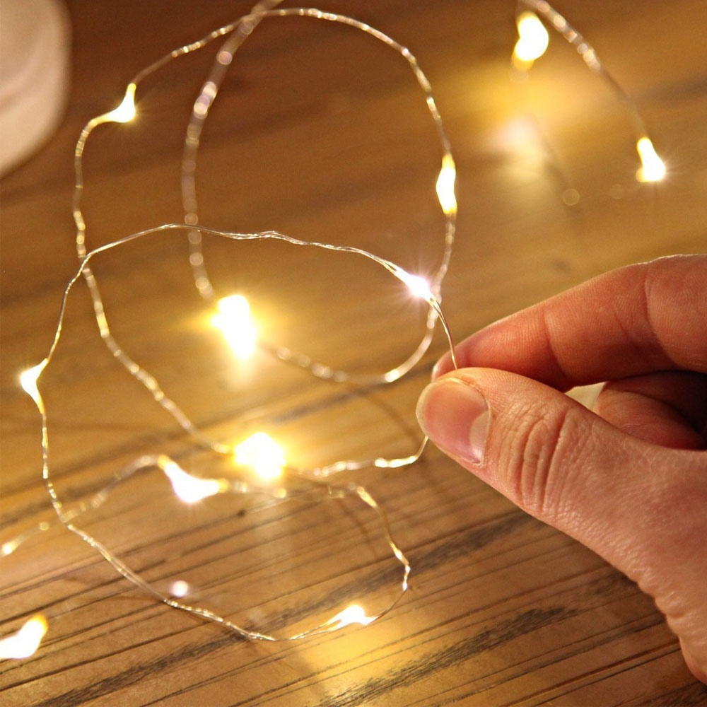 Colorful AA Battery Powered 1M 10 led Christmas Holiday Wedding Party Decoration Festival Copper Led String Fairy Light Lamp
