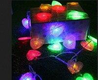 DHL 100 м светодиодный строка полосы 600 сердца светодиодный праздник Рождество Свадьба Шторы оформление ламп Прямая доставка