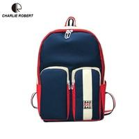 Panelled Women Lady Shoulder Bags Five Colors Korean Version Of Harajuku Oxford High School Students' Versatile Backpack