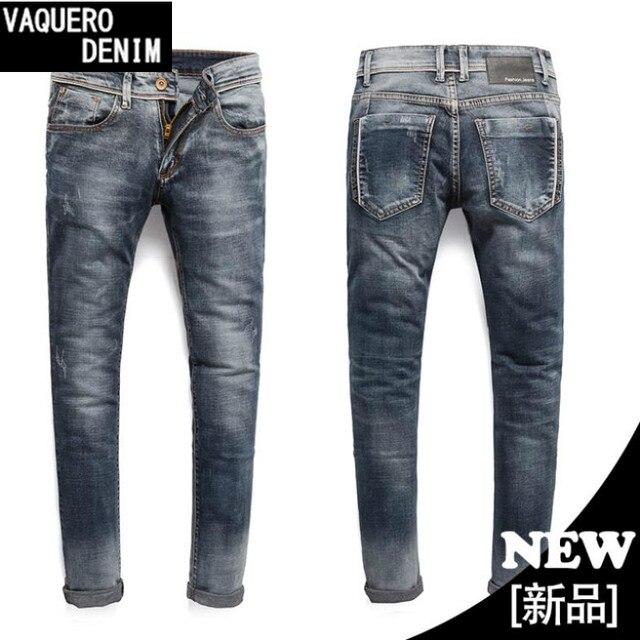 d8a0e2084 Denim Jeans Para Hombre Hombres Manera de La Venta Stretch Skinny Jeans  Blancos para Los Hombres