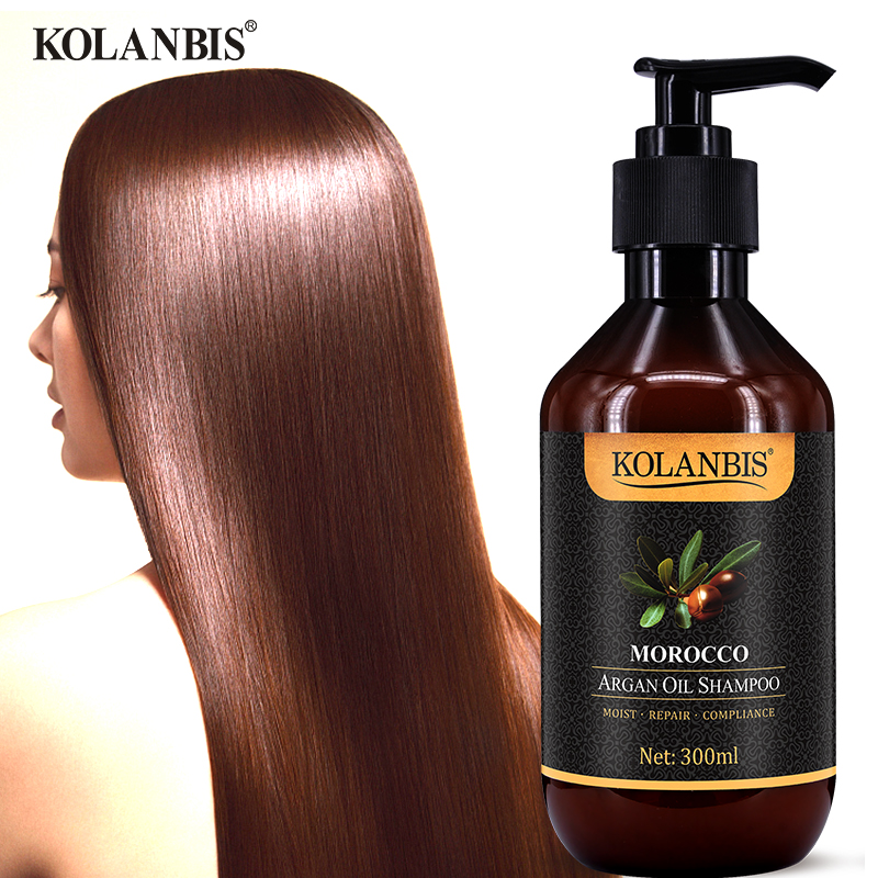 Morocco argan oil nutrition keratin shampoo for dry frizz hair split ends damage protein treatment image