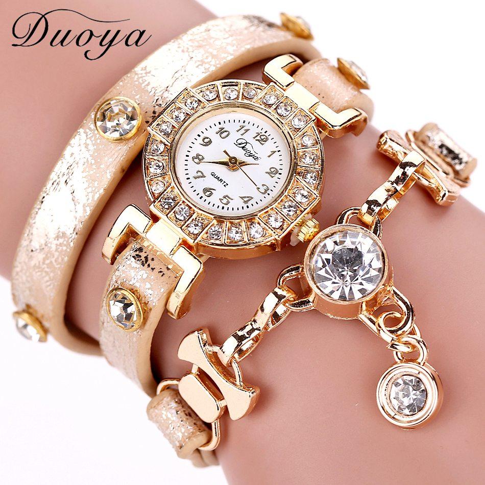 Duoya Relojes de Las Mujeres Piedras Preciosas Nueva Lujo Relojes de Pulsera Vestido Vestido de Moda Cadena Larga Reloj Casual Dropshipping