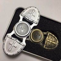 High Quality Anti Stress Wheel Retro Crusades Fidget Spinner Metal 2017 EDC Toys Hand Spinner For