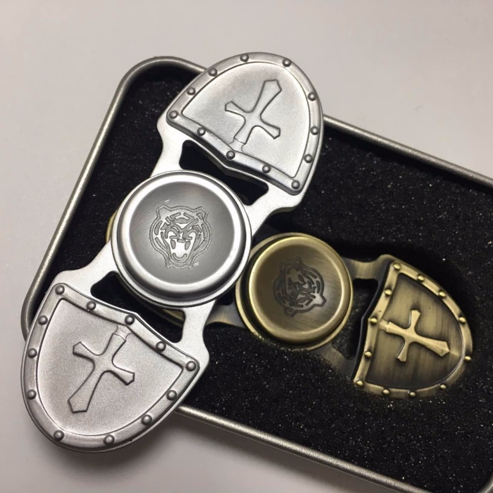 High Quality Anti Stress Wheel Retro Crusades Fidget Spinner Metal 2017 EDC Toys Hand Spinner For Autism ADHD Adult Kid B0032 infinity cube new style spinner fidget high quality anti stress mano metal kids finger toys luxury hot adult edc for adhd gifts