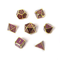 rpg d&d metal dice set polyhedral solid dungeons and dragons dnd digital purple dices table games Zinc alloy pattern d20 10 8 12