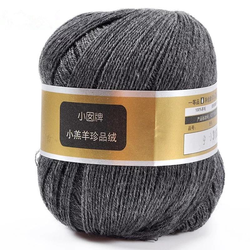 Amostra fio 100% merino para tricô 28 s/3 branco cinza preto cores eco friendly saudável 1 kg pequeno atacado - 6