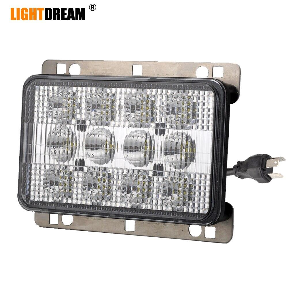 4x6 LED avant capot lumière 6x4 60W LED avant phare RE269110 avec H4 plug feux de croisement