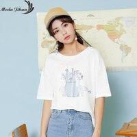 Moda Jihan New Chic Young Women T Shirts Cotton Short Sleeve TShirts Preppy Style Tops Summer Cool Boy friend Tees Pretty Print