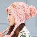 Fashion Women Spring & Winter Warm  Skullies Beanies Knitted Hat / Cotton Winter Cap Brand Women Beanie Hat Wholesale