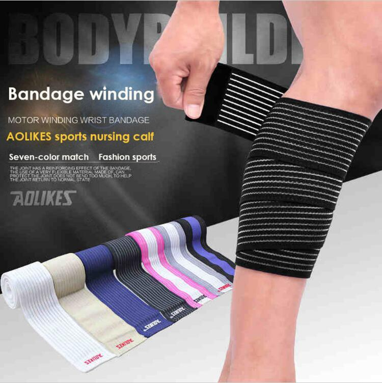 AOLIKES 1Pair 90*7.5cm High Quality Elastic Bandage Sport Knee Support Strap Knee Pads P ...