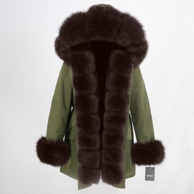 OFTBUY Waterproof Long Parka Winter Jacket Women Real Fur Coat Natural Fox Fur Collar Hood Thick Warm Streetwear Detachable New 51