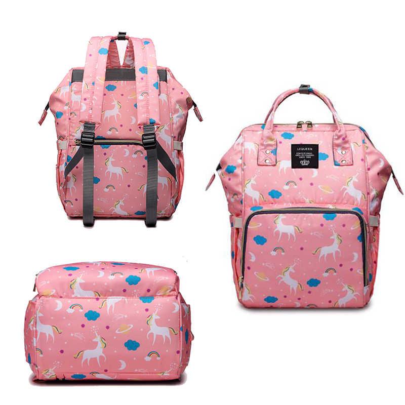 Модная сумка для подгузников для мам с принтом в горошек, Большая вместительная сумка для детских подгузников, рюкзак для путешествий, сумка для кормления, женская сумка для ухода за ребенком
