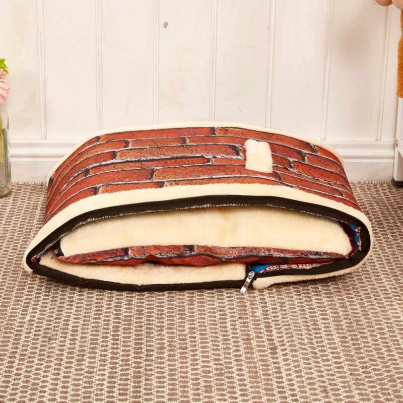 Складной домик для домашнего животного-собаки кровать гнездо с удобный коврик Мягкая Плюшевая Конура для собаки для щенка собаки кошки s m l размеры доступны