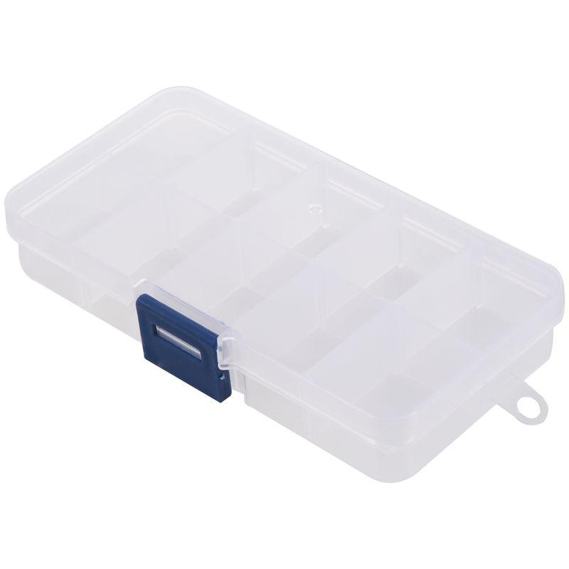 10 Slots Adjustable Plastic Fishing Lure Hook Tackle Box Storage Case Organizer
