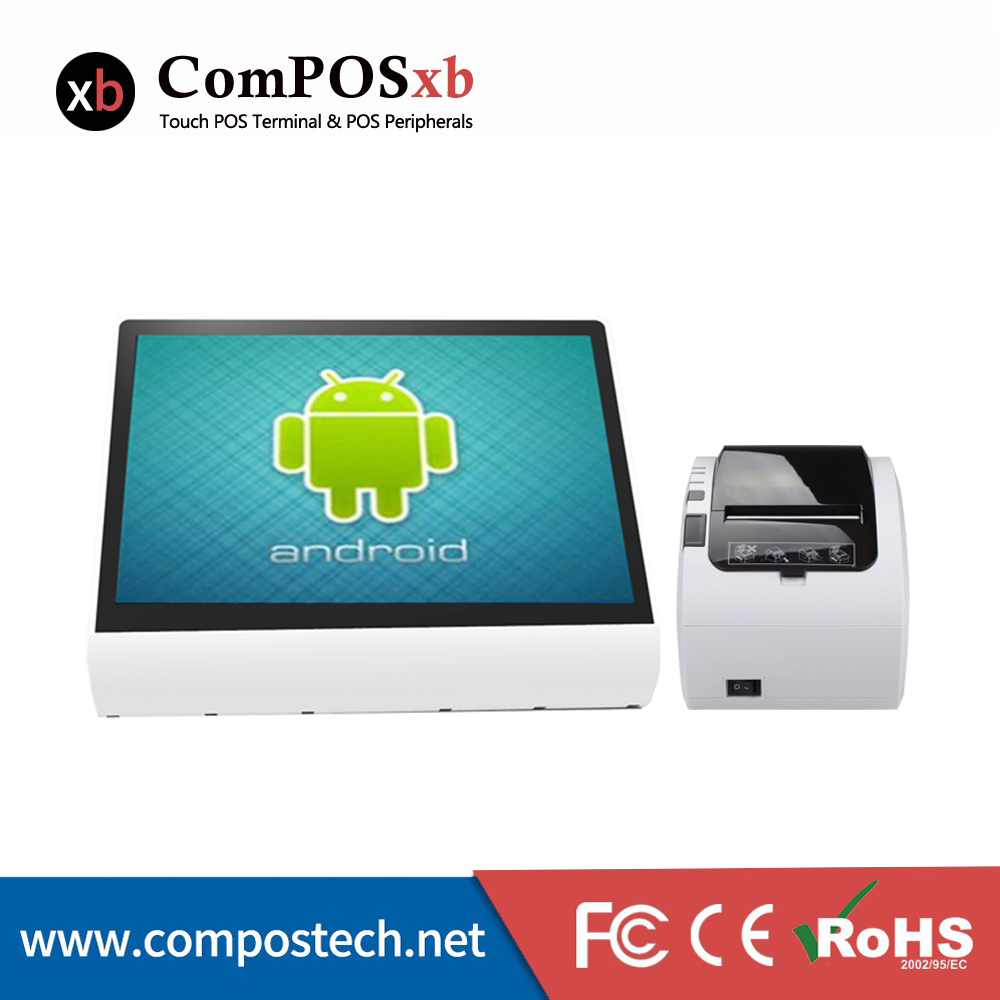 Newest 12 inch Android pos terminal point of sale restaurant software with 80mm receipt printer цена