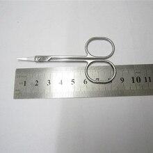 Нержавеющая сталь красота мини небольшой изгиб лезвия бровей ножницы для ресниц триммер Макияж Косметический триммер для усов отделка маникюр