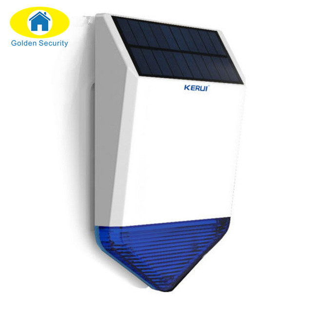 Golden Security Wireless Outdoor Solar siren For G19 G18 Alarm SystemS security Home with flashing response loudly sound