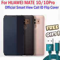 For Huawei MATE 10 Case Original Official View Window Smart Flip Leather Cover Capa Coque Funda