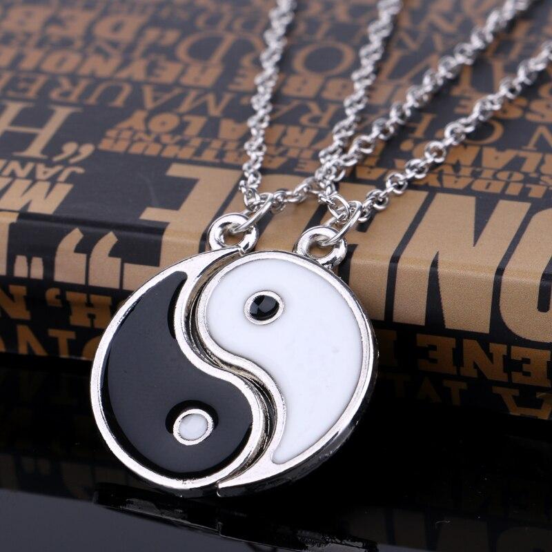 Enamel Gossip Yin Yang Necklaces for Women Lovers Necklace B…
