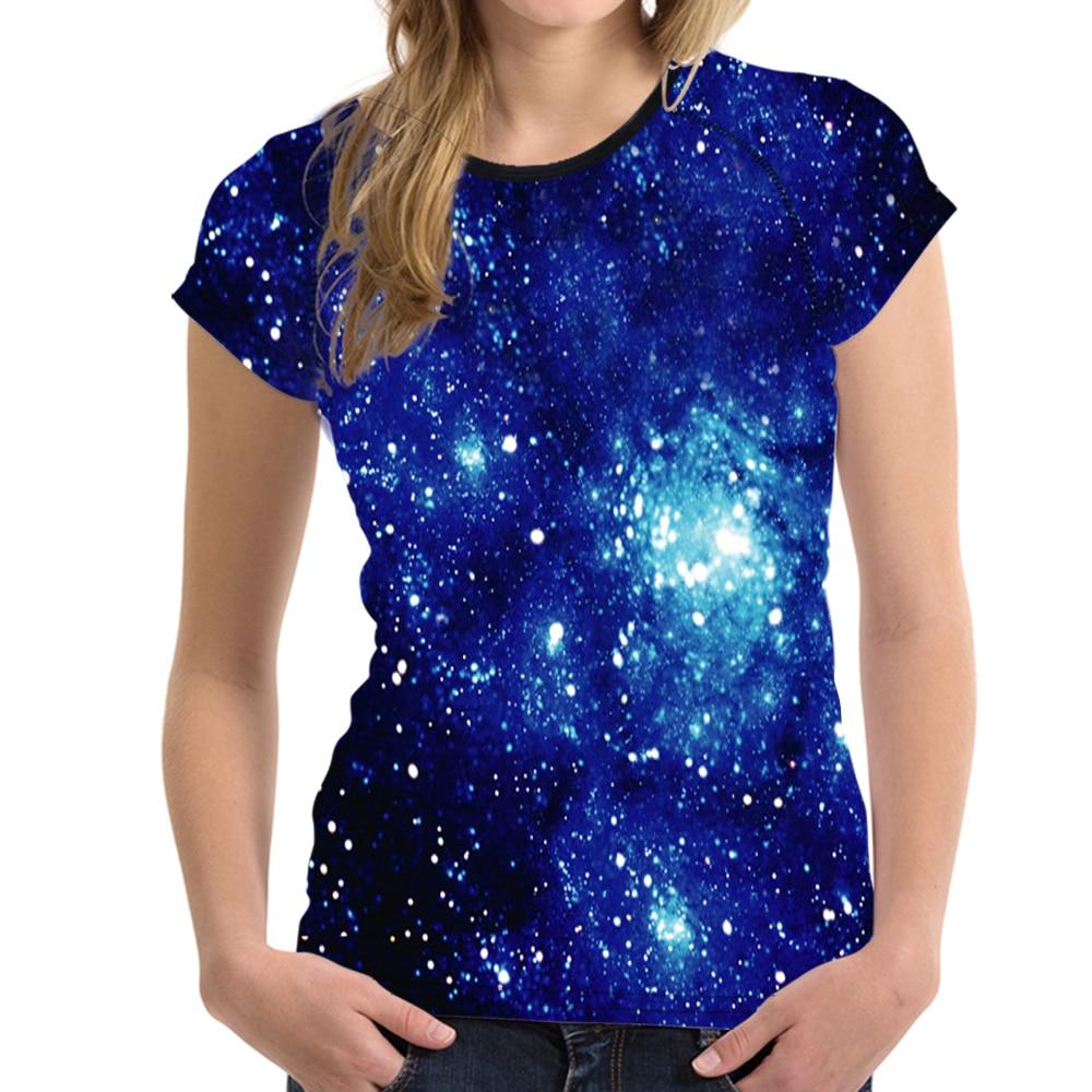 Customized High Quality 3D Galaxy Space T Shirt Women t Shirt Female Novelty Elastic Hip Hop Top Tees Alien tShirt Haut Femme