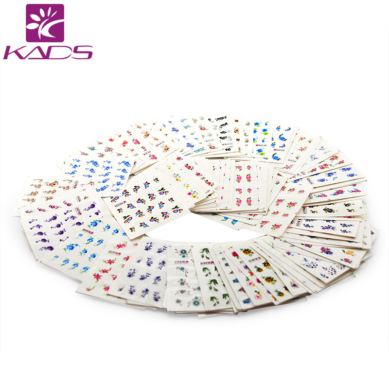 KADS 35Sheets New Design Flower/Cartoon/Lace Water Nail Stickers Water Transfer Nail Art Decals Beauty Full Wraps Manicure 2016 cartoon design nail art manicure tips water transfer nail stickers paradise vacation desgins nails wraps collections decor
